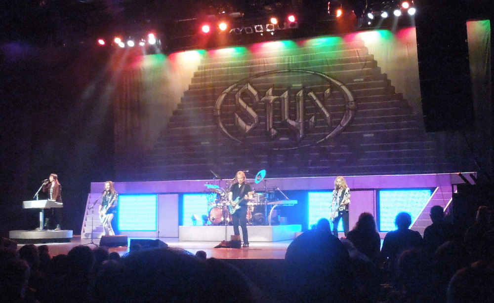 Styx performing at American Music Theater in Lancaster, PA.  Photo copyright 2014 by Ally Abramson.
