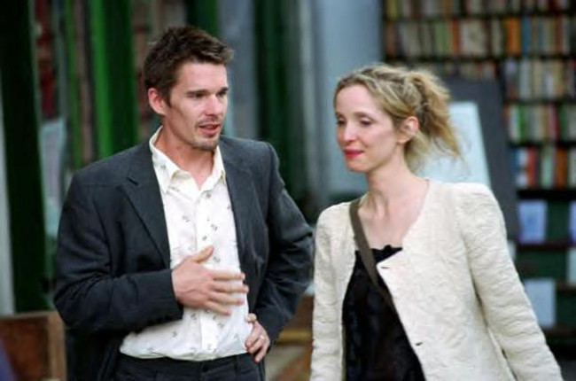 "Ethan Hawke and Julie Delpy star in ""Before Sunset."""