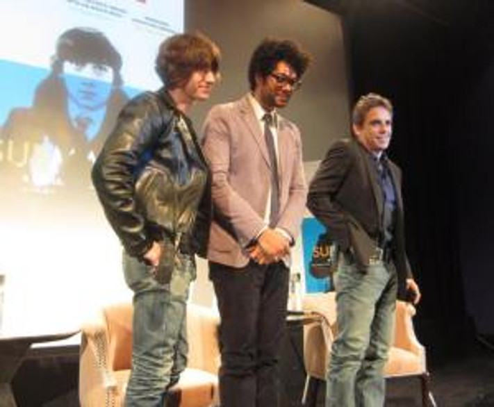 Alex Turner, Richard Ayoade and Ben Stller at the New York Press Conference for SUBMARINE.