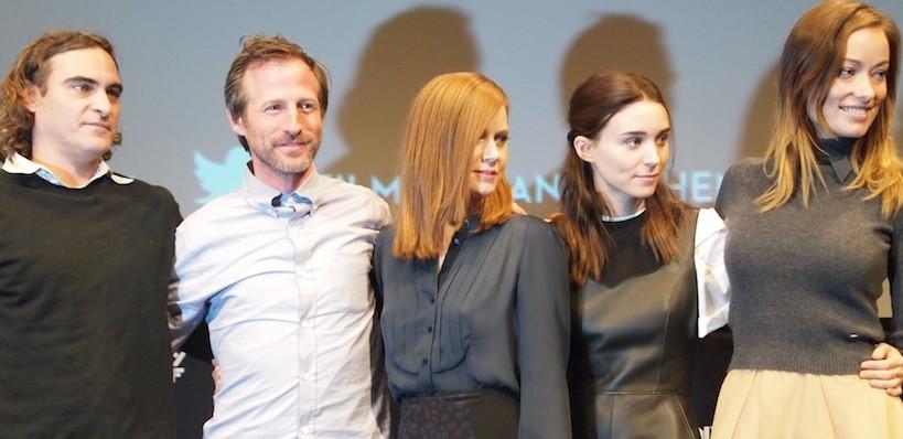 Joaquin Phoenix, Spike Jonze, Amy Adams, Rooney Mara and Olivia Wilde at the NYFF screening of 'Her.'