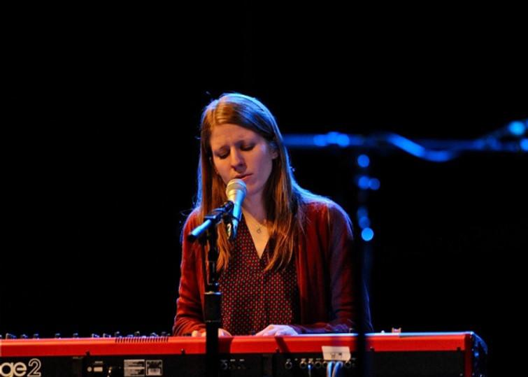 Marketa Irglova in concert at World Cafe Live in Philadelphia.  Photo copyright 2014 Jim Rinaldi.