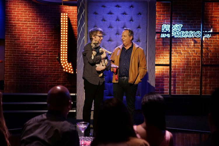 "FIRST IMPRESSIONS -- ""Jon Lovitz"" Episode 102 -- Pictured:  (l-r) Dana Carvey, Jon Lovitz -- (Photo by: Joseph Viles/USA Network)"