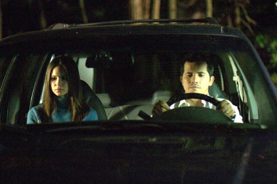 "Katherine Waterston and John Leguizamo in ""The Babysitters."""