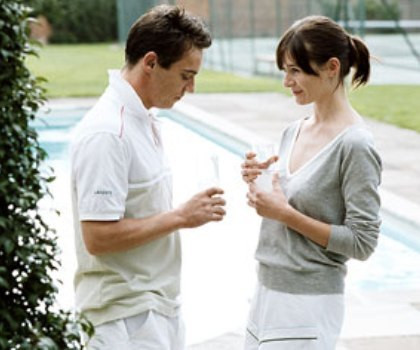 """Jonathan Rhys Meyers and Emily Mortimer in """"Match Point."""""""