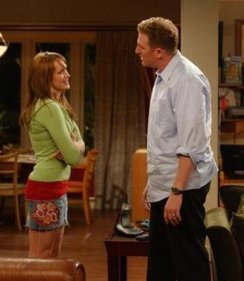"""Kaylee DeFer and Michael Rapaport in """"The War at Home"""""""