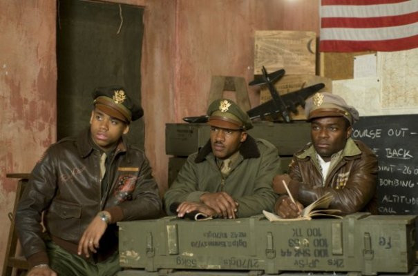 "Nate Parker, Tristan Mack Wilds and David Oyelowo in ""Red Tails."""