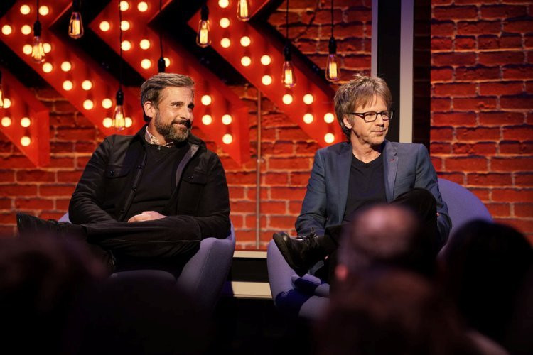 FIRST IMPRESSIONS -- Episode 105 -- Pictured:  (l-r) Steve Carrell, Dana Carvey -- (Photo by: Joseph Viles/USA Network)