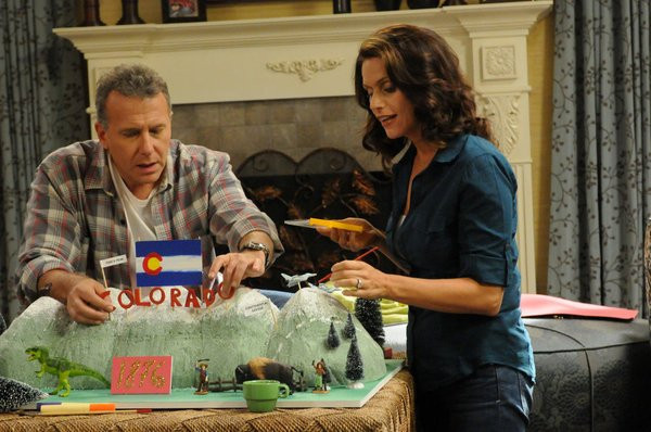 """THE PAUL REISER SHOW -- """"The Father's Occupation """" Episode 104 -- Pictured: (l-r) Paul Reiser as Paul, Amy Landecker as Claire -- Photo by: Michael Yarish/NBC"""