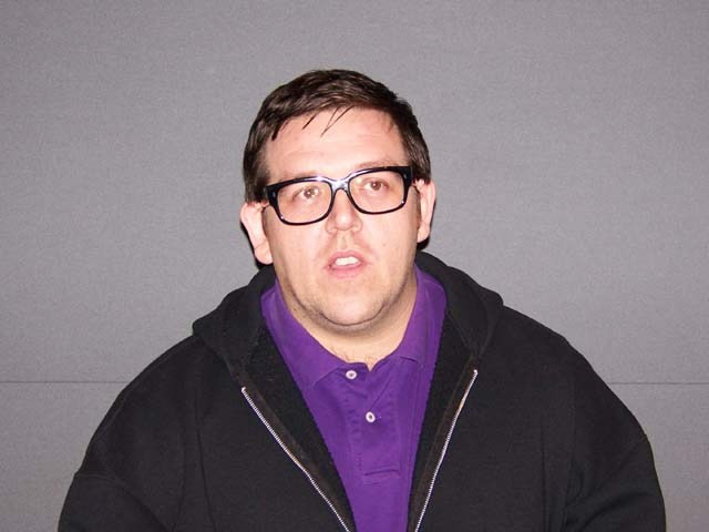 """Nick Frost at the New York press day for """"Paul."""""""