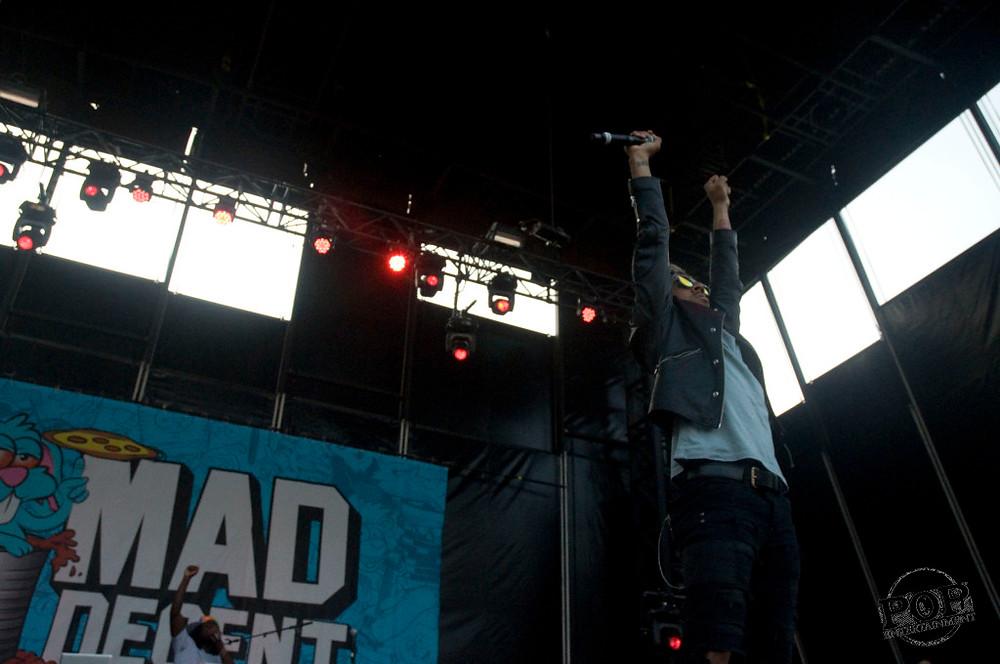 Vic Mensa at Mad Decent Block Party at Festival Pier at Penn's Landing in Philadelphia, PA, August 8, 2014.  Photo copyright 2014 Vin Manta.