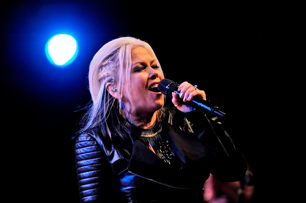 Terri Nunn of Berlin at World Cafe Live in Philadelphia, PA on July 14, 2014.