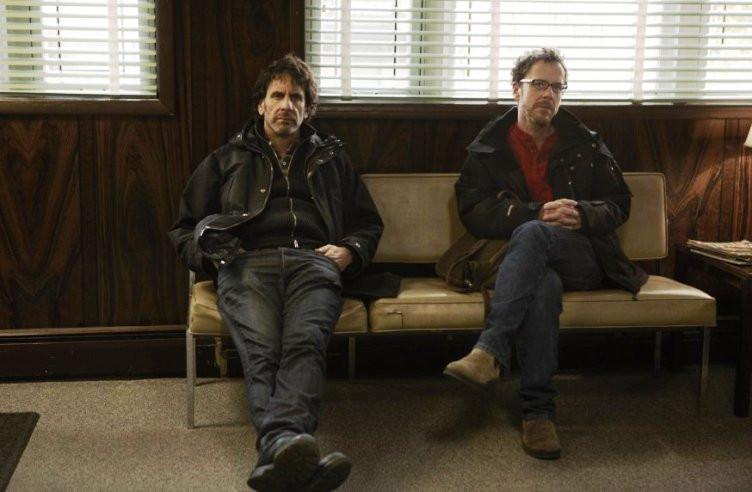 Joel and Ethan Coen on the set of 'Inside Llewyn Davis.'