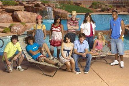 """Chris Warren, Jr. and the cast of """"High School Musical 2."""""""