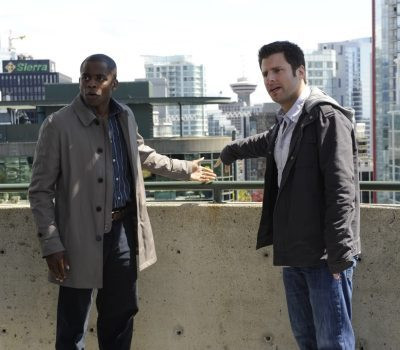 "Dulé Hill and James Roday in ""Psych."""