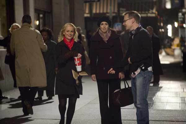 """Amy Poehler. Tina Fey and Michael McCullers making """"Baby Mama."""""""