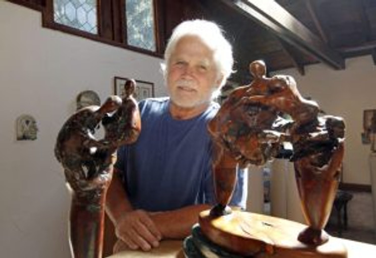 "Tony Dow, former star of ""Leave it To Beaver"" in his artist's studio."