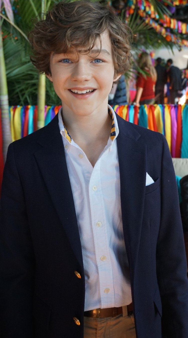 Levi Miller at the NY Press Day for PAN.