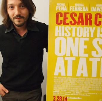 Actor Turned Director Diego Luna Celebrates Cesar Chavez