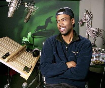 "Chris Rock session for ""Madagascar"""