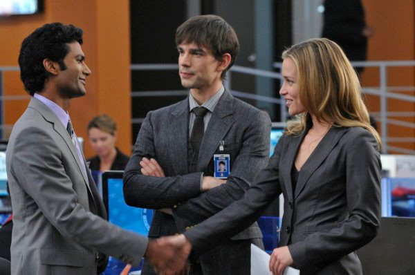 "COVERT AFFAIRS -- ""Walter's Walk"" Episode 102 -- Pictured: (l-r) Sendhil Ramamurthy as Jai Wilcox, Christopher Gorham as Auggie Anderson, Piper Perabo as Annie Walker -- Photo by: Steve Wilkie/USA Network"