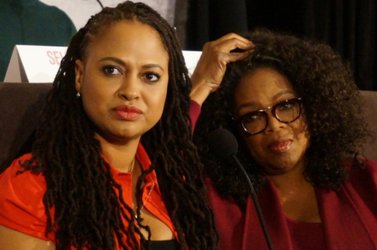 "Ava DuVernay and Oprah Winfrey at the NY press day for ""Selma.""  Photo copyright 2015 Brad Balfour."