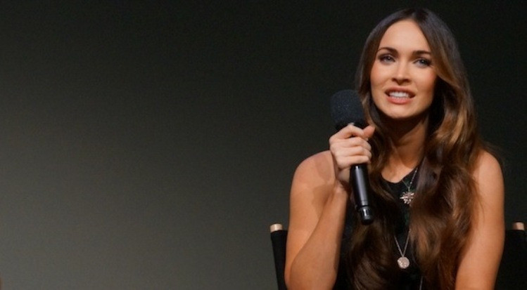 "Megan Fox at the New York Apple Store appearance about ""Teenage Mutant Ninja Turtles."""