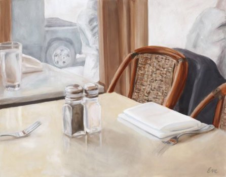 Bistro painting by Eve Plumb