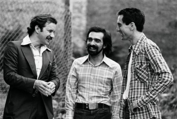 "Paul Schrader, Martin Scorsese and Robert De Niro making ""Taxi Driver."""