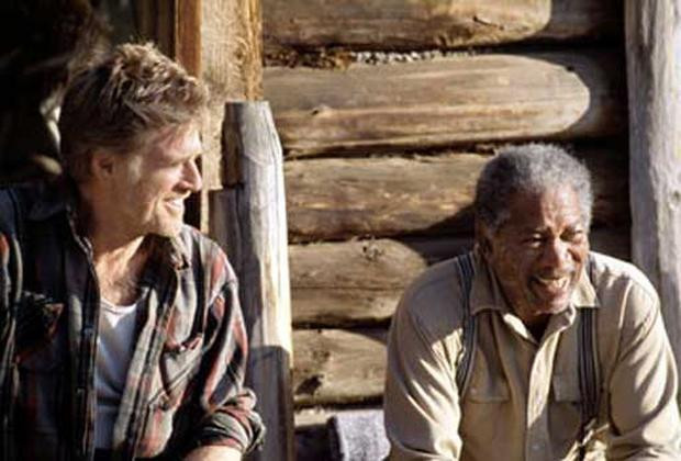 """Robert Redford and Morgan Freeman in """"An Unfinished Life."""""""