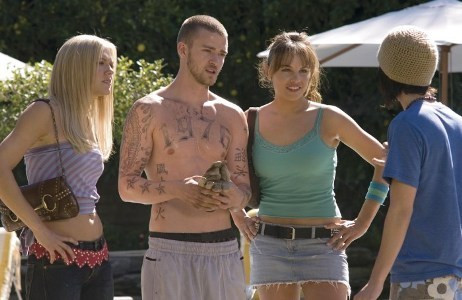 "Dominique Swain , Justin Timberlake, Charity Shea and Christopher Marquette star in ""Alpha Dog."""