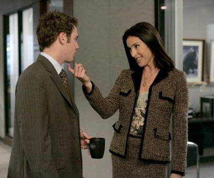 """Bret Harrison and Mimi Rogers in """"The Loop"""""""