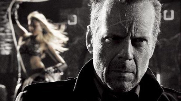 Bruce Willis (and Jessica Alba) in Sin City.