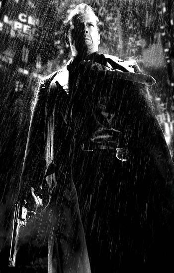 Bruce Willis in Sin City.