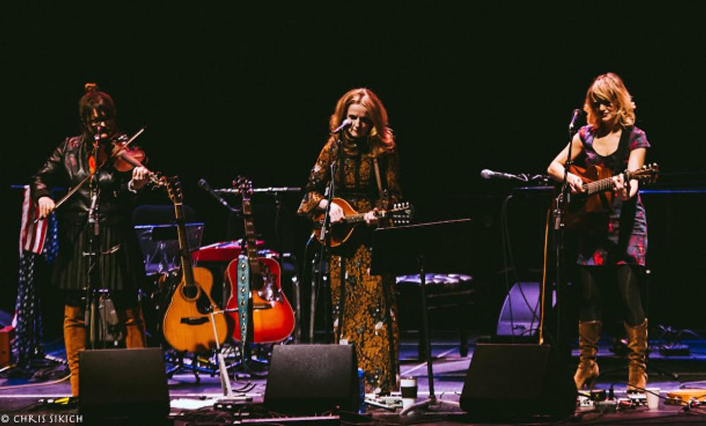 Patty Griffin, Sara Watkins and Anais Mitchell - Jorgensen Auditorium - UCONN - Storrs, Connecticut - March 5, 2016 - Photo by Chris Sikich © 2016