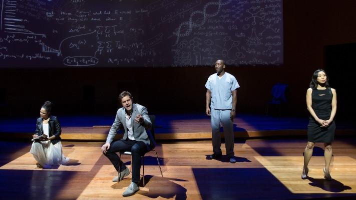 "Tessa Thompson, Joshua Jackson, Mahershala Ali and Anna Son in ""Smart People."""