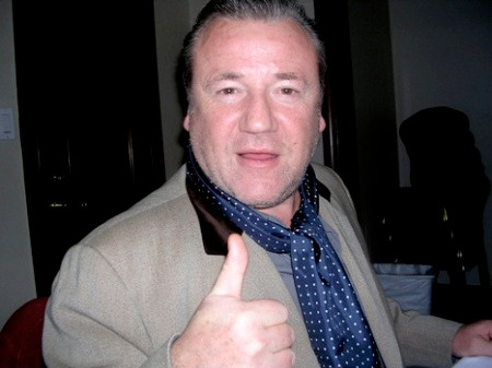 """Ray Winstone at the NY press day for """"Beowulf."""""""