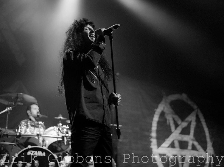 Anthrax at the Tower Theater in Upper Darby, PA.  Photo copyright 2015 Erik Gibbons.
