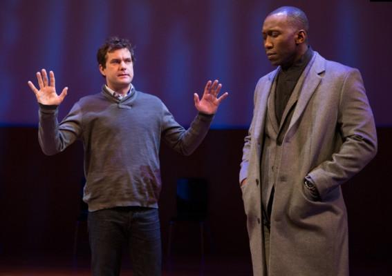 "Joshua Jackson and Mahershala Ali in ""Smart People."""