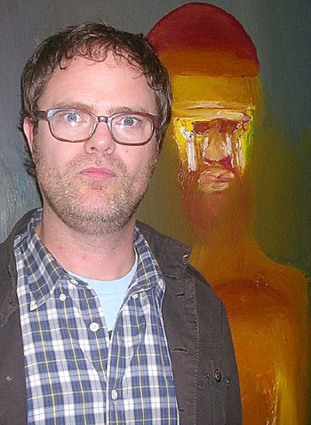 "Rainn Wilson at the NY press day for ""The Rocker."""