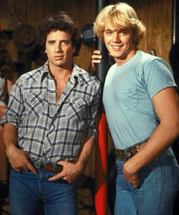 """Tom Wopat and John Schneider in """"The Dukes of Hazzard."""""""