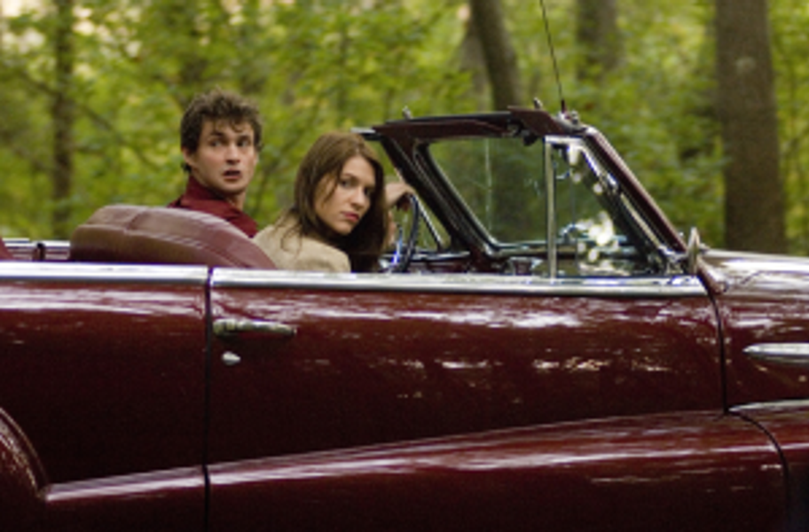 "Hugh Dancy and Claire Danes in ""Evening."""