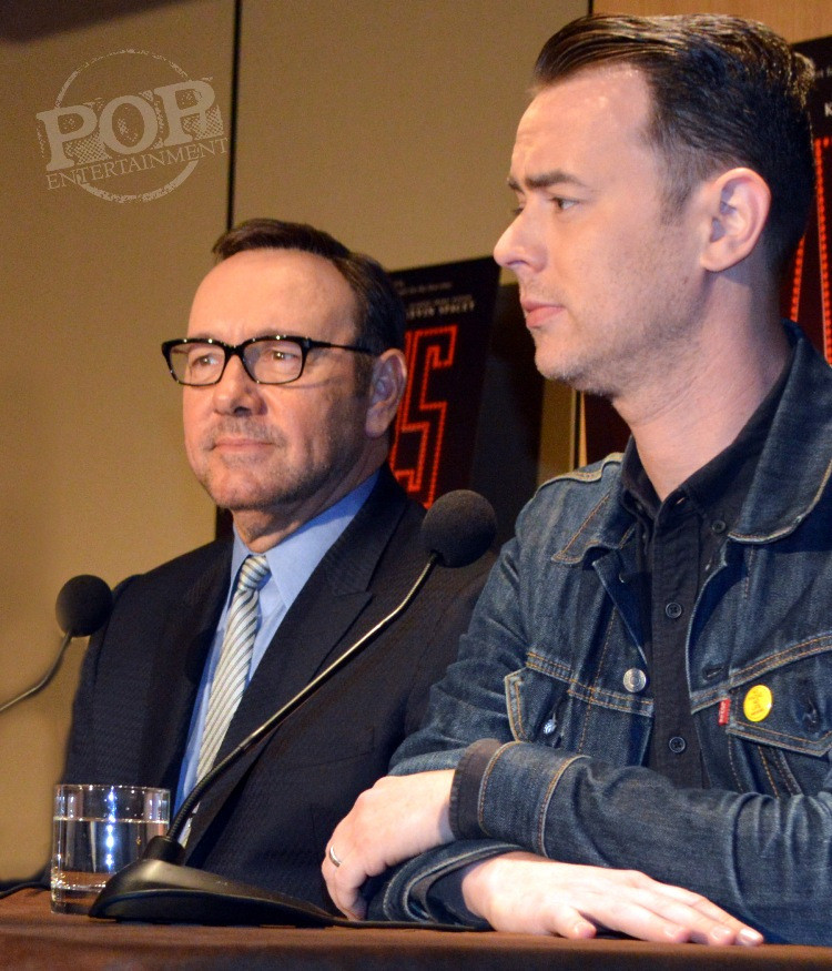 "Kevin Spacey and Colin Hanks at the New York Press Conference for ""Elvis & Nixon"" at the Conrad New York April 18, 2016. Photo copyright 2016 Jay S. Jacobs."