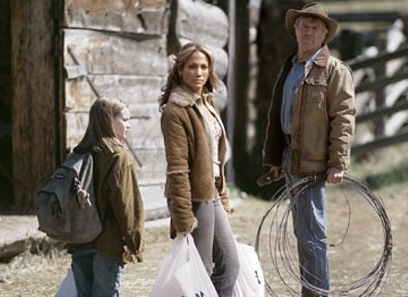 """Becca Gardner, Jennifer Lopez and Robert Redford in  """"An Unfinished Life."""""""