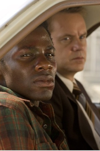 "Derek Luke and Tim Robbins star in ""Catch a Fire."""