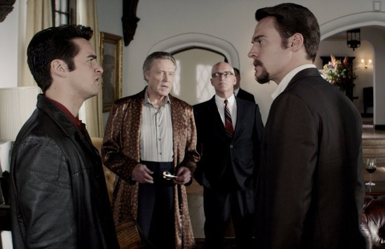 "Christopher Walken, Donnie Kehr, Vincent Piazza and Erich Bergen in ""Jersey Boys."""