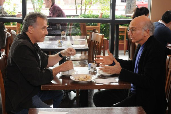 """THE PAUL REISER SHOW -- """"The Father's Occupation """" Episode 104 -- Pictured: (l-r) Paul Reiser as Paul, Larry David as Himself -- Photo by: Michael Yarish/NBC"""