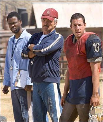 "Chris Rock, Burt Reynolds and Adam Sandler in ""The Longest Yard."""