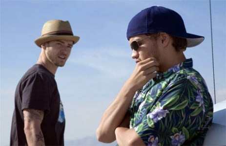"Justin Timberlake and Emile Hirsch star in ""Alpha Dog."""