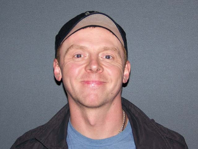 """Simon Pegg at the New York press day for """"Paul."""""""
