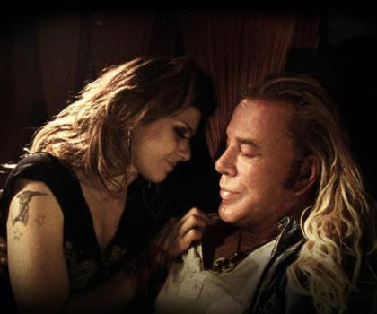 """Marisa Tomei and Mickey Rourke in """"The Wrestler."""""""